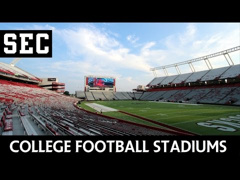 College Football Stadiums - Southeastern Conference (SEC)