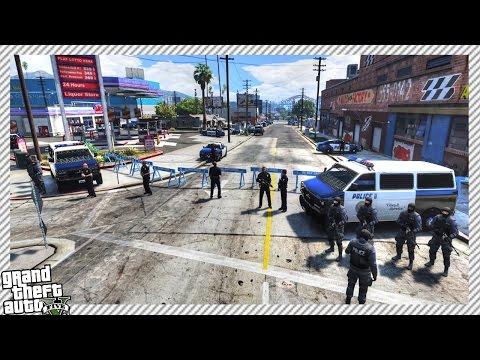 S.W.A.T POLICE RAID & LOCK DOWN GROVE STREET