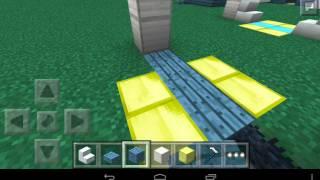 Как сделать  механическую дверь в minecraft pe