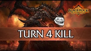 Hearthstone Beta Deathwing TURN 4 KILL!!