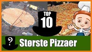 top 10 største pizzaer i verdenen