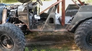 UAZ V8 5.5L under construction, awesome sound, УАЗ V8 5.5Л в процессе строительства, огро́мный звук