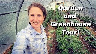 Garden Tour June 2020   High Tunnel Greenhouse