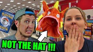 Surprise Pokemon Cards Challenge In Target W/ Embarrassing Magikarp Hat!