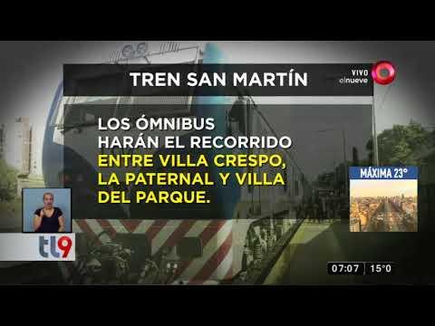 Cierran la estación La Paternal del tren San Martín