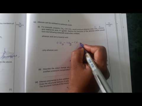 Organic chemistry (2013 past paper )