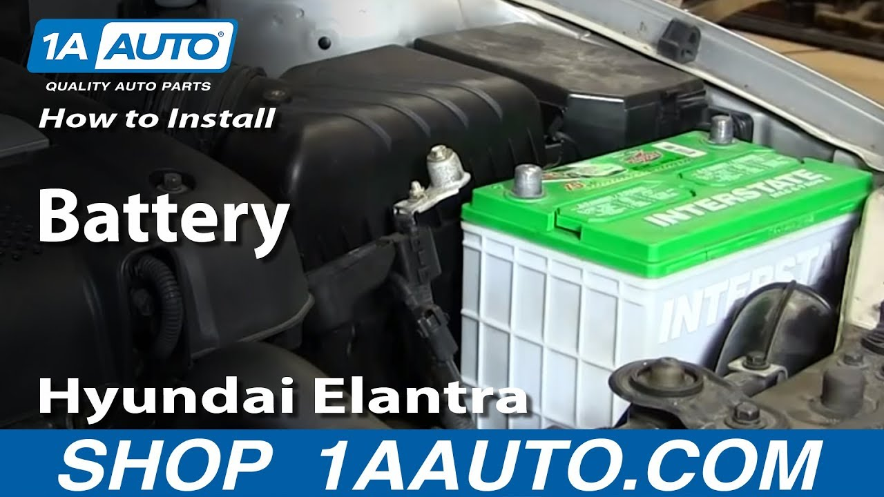 hight resolution of how to install replace change battery 2001 06 hyundai elantra