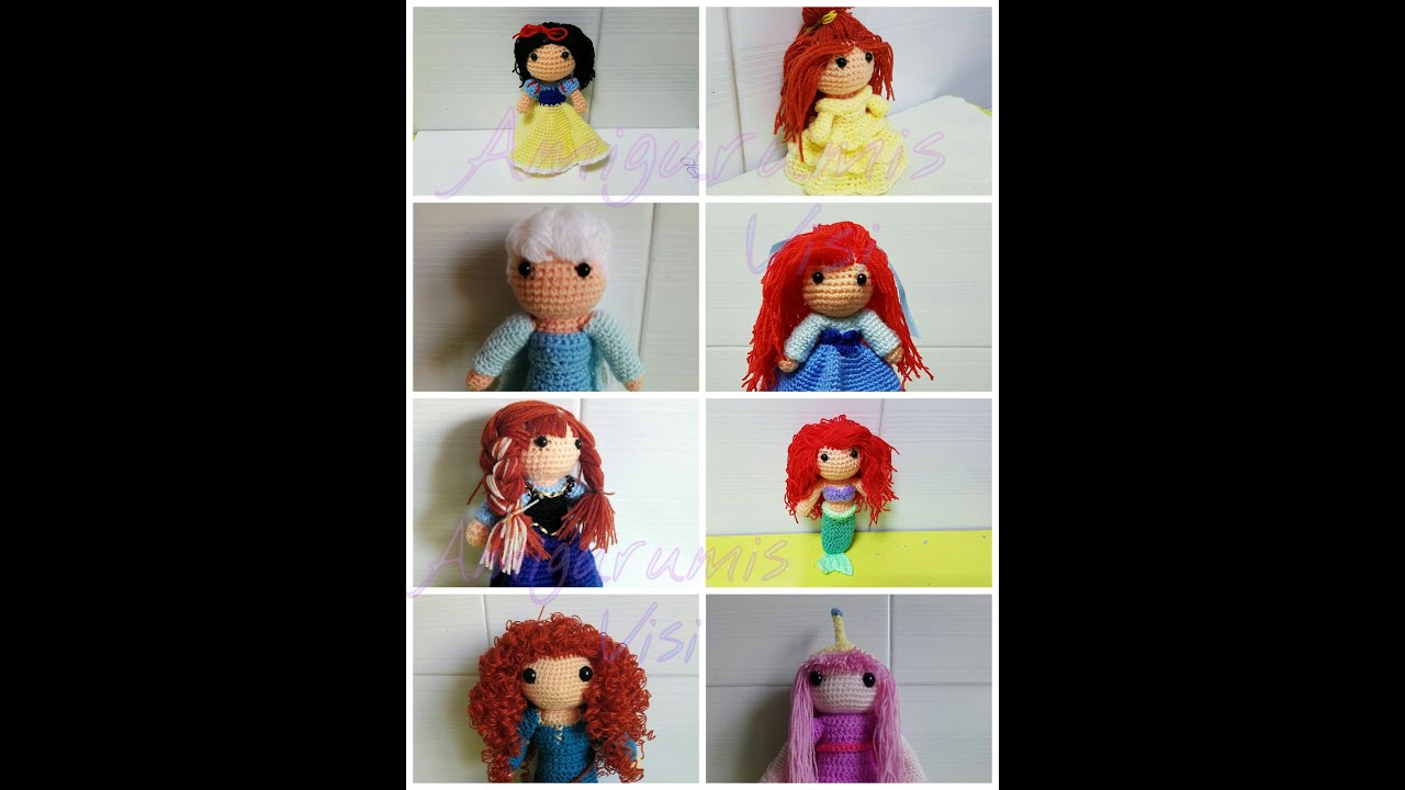 Princesas Disney a ganchillo - YouTube