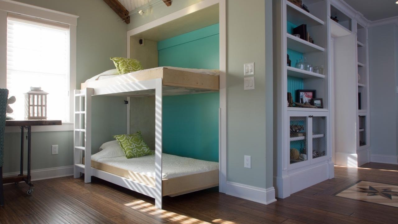 Twin Murphy Bunk Bed Youtube