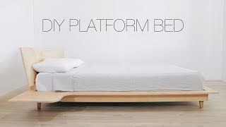 DIY Platform Bed With Build-in Nightstands | Modern Builds