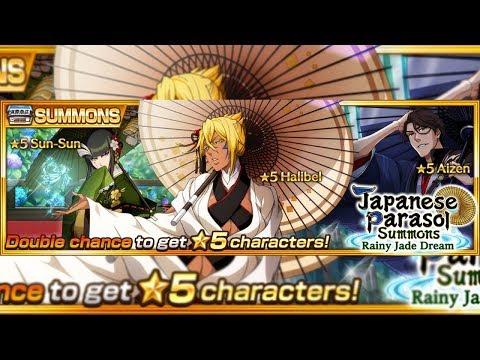 Bleach Brave Souls: Summons Parassol Rainy Jade Dream + Nova Epic Raid!!! - Omega Play