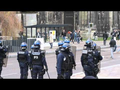 Etat policier à Rouen !! Répression de la police face à une occupation pacifique