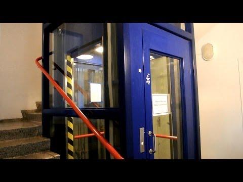 1993 Lifton roped hydraulic glass elevator @ Færgegaarden flats in Aalborg, Denmark