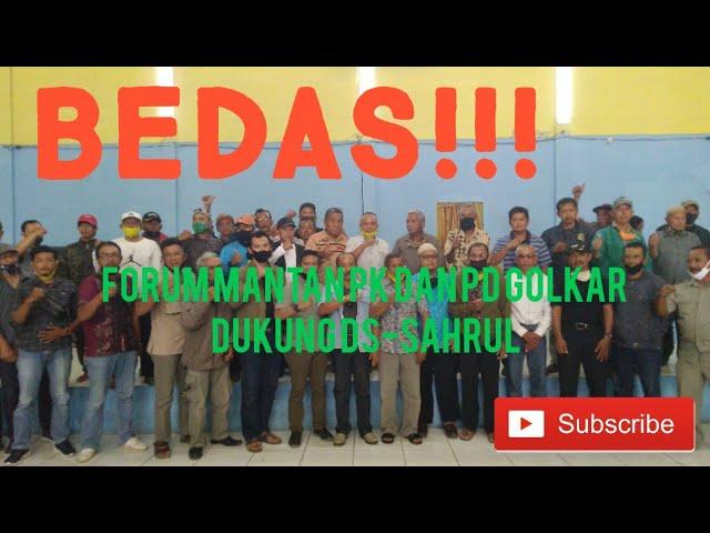 Forum Mantan PK dan PD Dukung DS-Sahrul, Suara Golkar Terpecah di Pilkada Kabupaten Bandung??