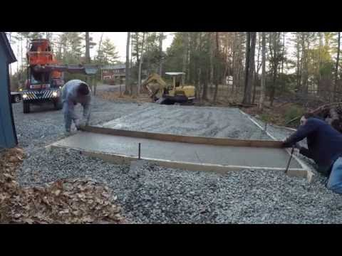Building concrete form and pouring a slab