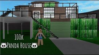 ROBLOX Bienvenido a Bloxburg: 🐼Panda House SpeedBuild🐼 - DaPandaGirl