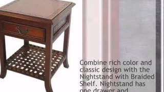 Nightstand With Braided Shelf - Lonestarwesterndecor.com