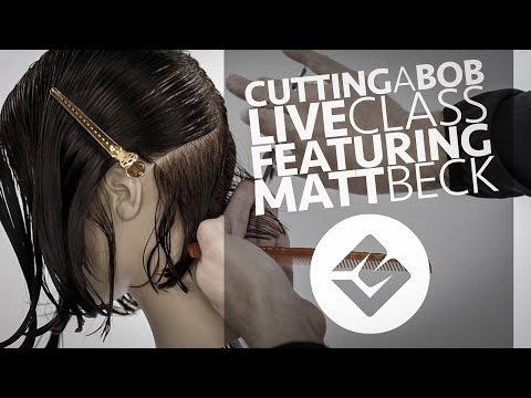 Cutting a Bob Haircut Tutorial YouTube LIVE - Featuring Matt Beck
