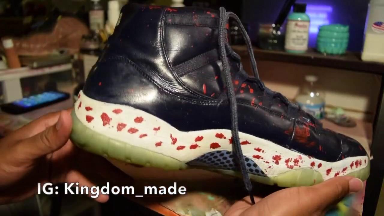 DIY Custom Jordan 11s - Beat to Heat. - YouTube b000852b5