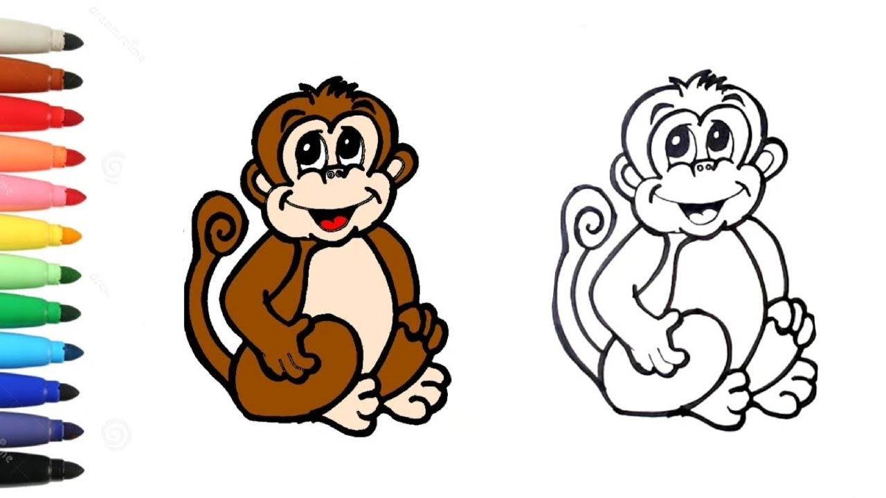 Comment dessiner un singe facile pour les enfants/ dessins faciles