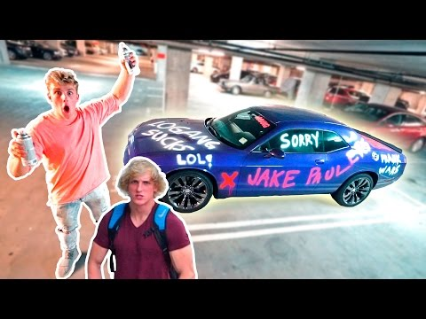 Thumbnail: I SPRAY PAINTED MY BROTHERS CAR **PRANK WARS**
