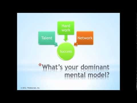 Three Mental Models for Success
