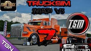 Euro truck simulator 2 Mapa TSM V5 + Peterbilt 389 v4.0 Parte 7
