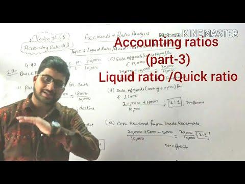 #68,class 12 accounts(Accounting ratios:Liquid ratio/Quick ratio/acid-test ratio)