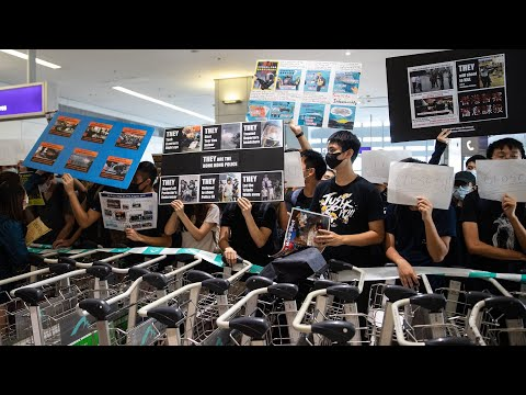Watch: Tuesday Hong Kong airport protests