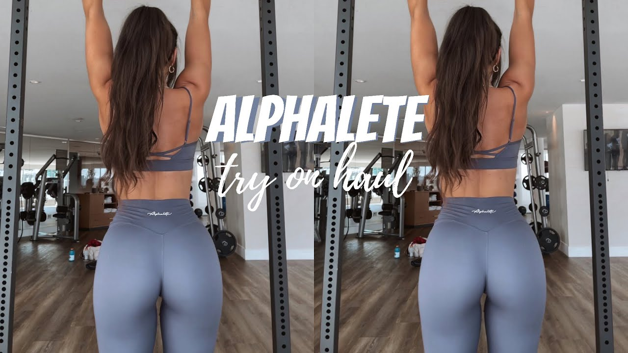 ALPHALETE TRY ON HAUL || legging review of the surface collection