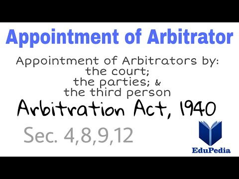 Appointment of Arbitrator / Arbitration Act, 1940