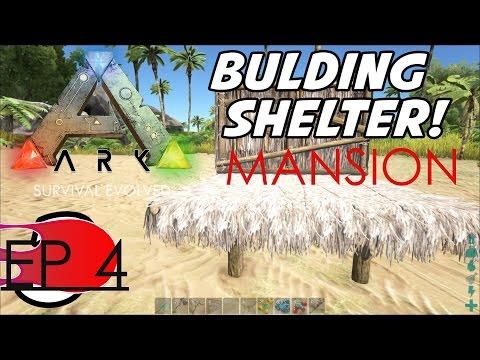 OUR HUGE TATCH MANSION![ALMOST COMPLETE]//ARK:Survival Evolved Ep 4