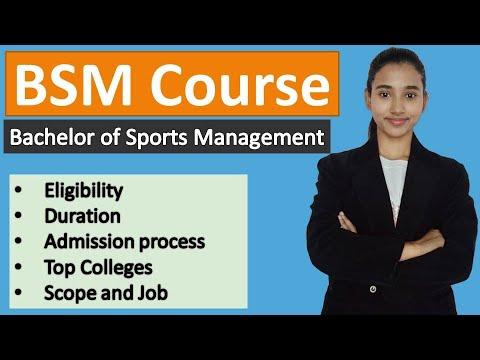 Download BSM course, Bachelor of Sports Management course details