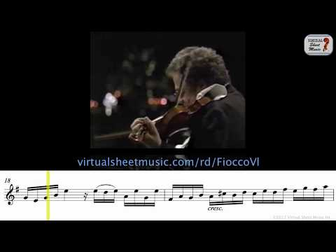 Itzhak Perlman - Allegro by Joseph Hector Fiocco - Sheet Music Play Along