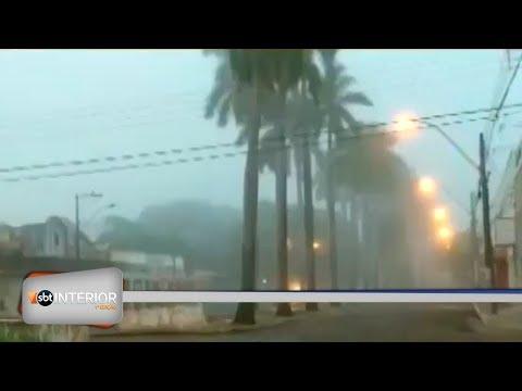 Dia amanhece com forte neblina em Araçatuba