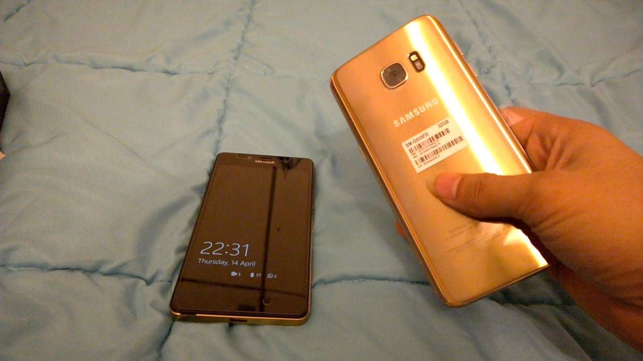 samsung galaxy s7 edge dual sim gold unboxing and few. Black Bedroom Furniture Sets. Home Design Ideas