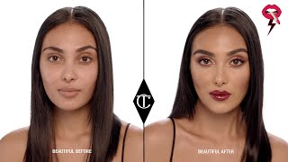 Your Everyday Red Lipstick Makeup Look ICON Palette Charlotte Tilbury