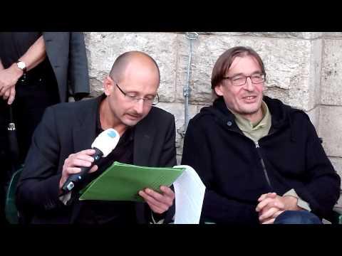 Heinrich Steinfest, Teil 1 - (1. Kultur-Mittwoch gegen Stuttgart 21 am 28.07.2010)