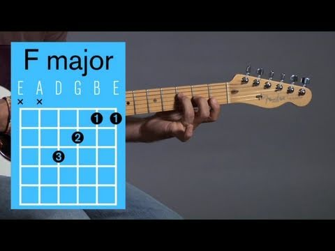 How to Play an F Major Open Chord | Guitar Lessons - YouTube