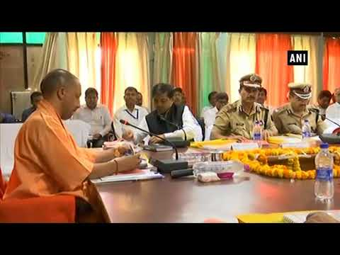 CM Yogi meets students, interacts with district administrative officials