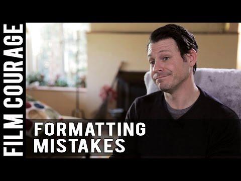Formatting Mistakes Amateur Screenwriters Make by Blayne Weaver