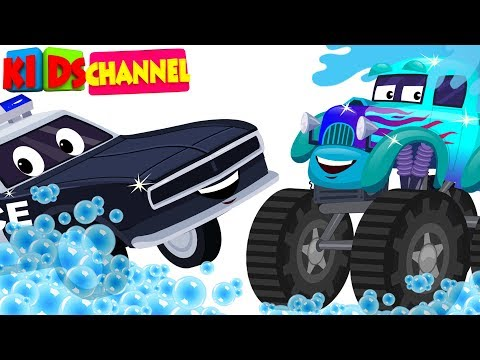 kids channel | car wash videos for children | cartoon car compilation for babies