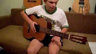 первый урок учения на гитаре с metallmens