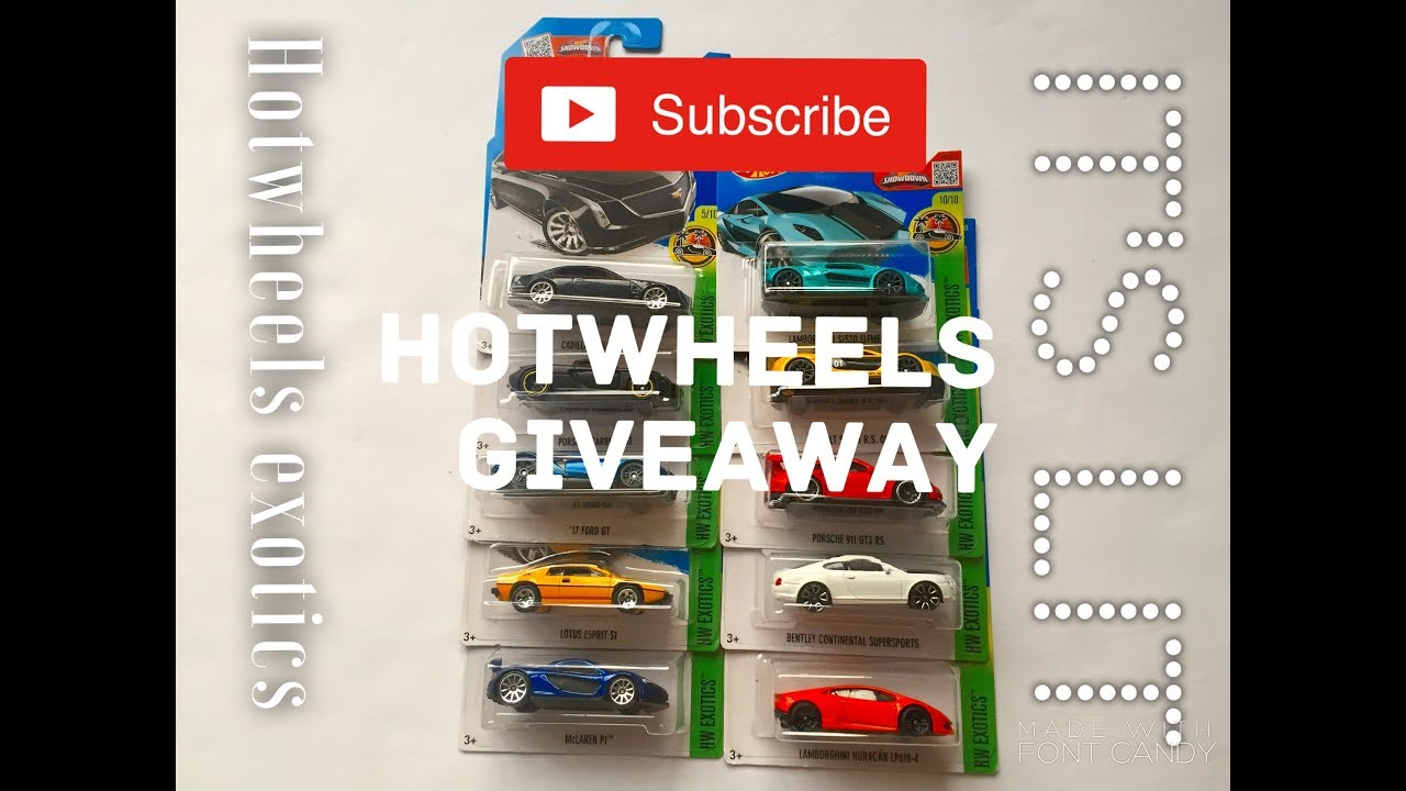 DIECAST DIRECT MASSIVE HOTWHEELS GIVEAWAY!!! COMPLETE SET OF HOTWHEELS  EXOTICS 2016 10/10!!!