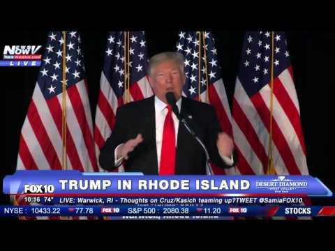 FULL: Trump Rally in Rhode Island - First Event Since Cruz-Kasich Strategy Announced - FNN