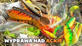 Wędkarska spinningowa wyprawa nad jezioro Ąckie i UNBOXING paczki ze sklepu internetowego [WP]