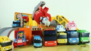 타요 꼬마버스 타요 중장비 놀이세트 로보카폴리 장난감  The Little Bus Tayo мультфильмы про машинки  Робокар Поли Игрушечные