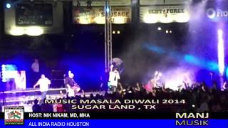 Music Masala Diwali 2014 part B. Manj Musik. ALL INDIA RADIO HOUSTON. DR. NIK NIKAM