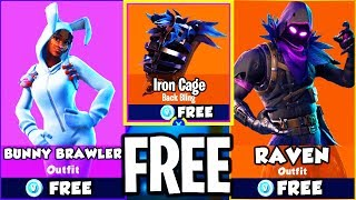"UNLOCK NEW ""RAVEN"" - ""BUNNY BRAWLER"" SKINS sur FORTNITE BATTLE ROYALE! SKINS sur FORTNITE!"