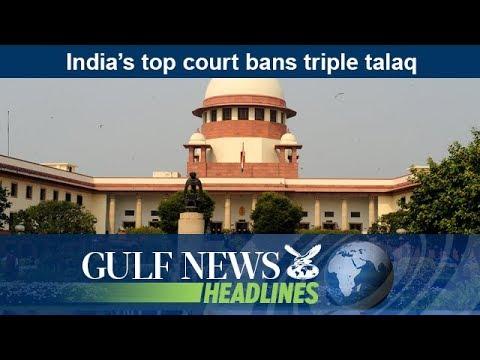 India's top court bans triple talaq - GN Headlines